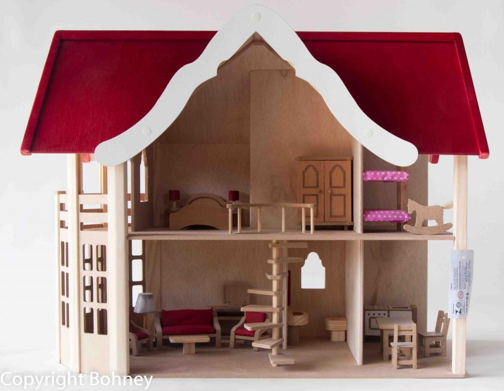 pa107 casa de boneca mansão com móveis casa de boneca de dois  #70282A 1024x795